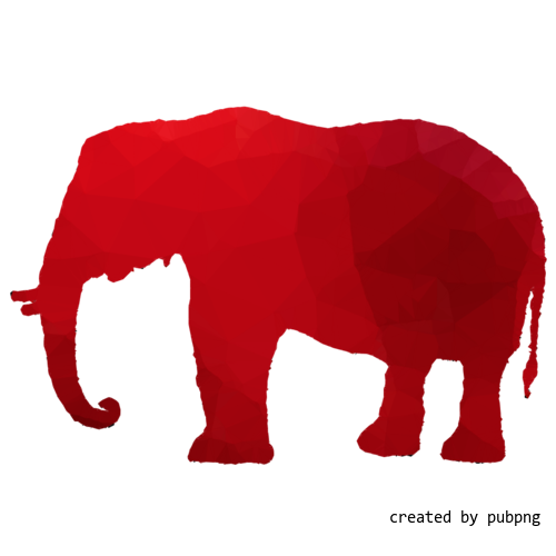 Silhouette, Animal, Elephants And Mammoths, Low Poly transparent png image under public domain license