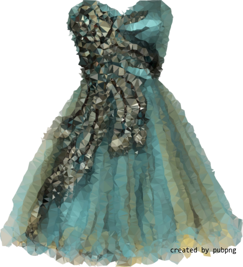 Dress, Shoulder, Low Poly transparent png image under public domain license